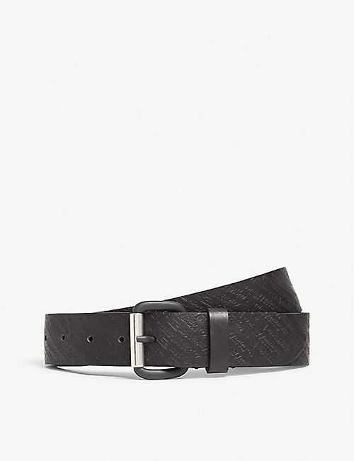 DIESEL Branded leather belt