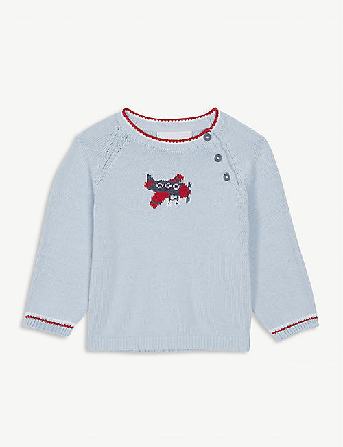 THE LITTLE WHITE COMPANY Aeroplane jumper 0-24 months