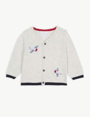 THE LITTLE WHITE COMPANY Airshow cardigan 0-24 months