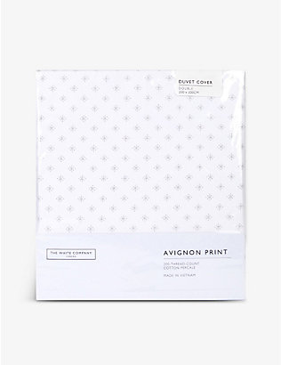 THE WHITE COMPANY: Avignon printed cotton double duvet cover
