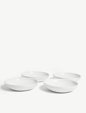 THE WHITE COMPANY Artisan porcelain serving bowls set of four