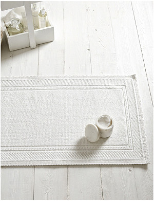 THE WHITE COMPANY Antibes cotton bath mat 50x80cm