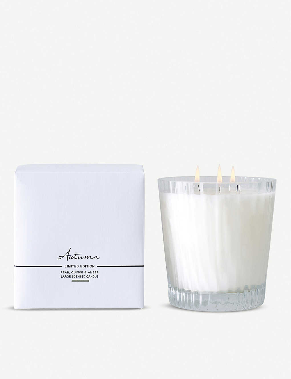 THE WHITE COMPANY: Autumn large mineral wax candle