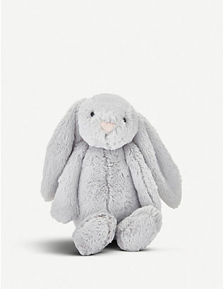 THE LITTLE WHITE COMPANY: Bashful bunny medium soft toy 30cm