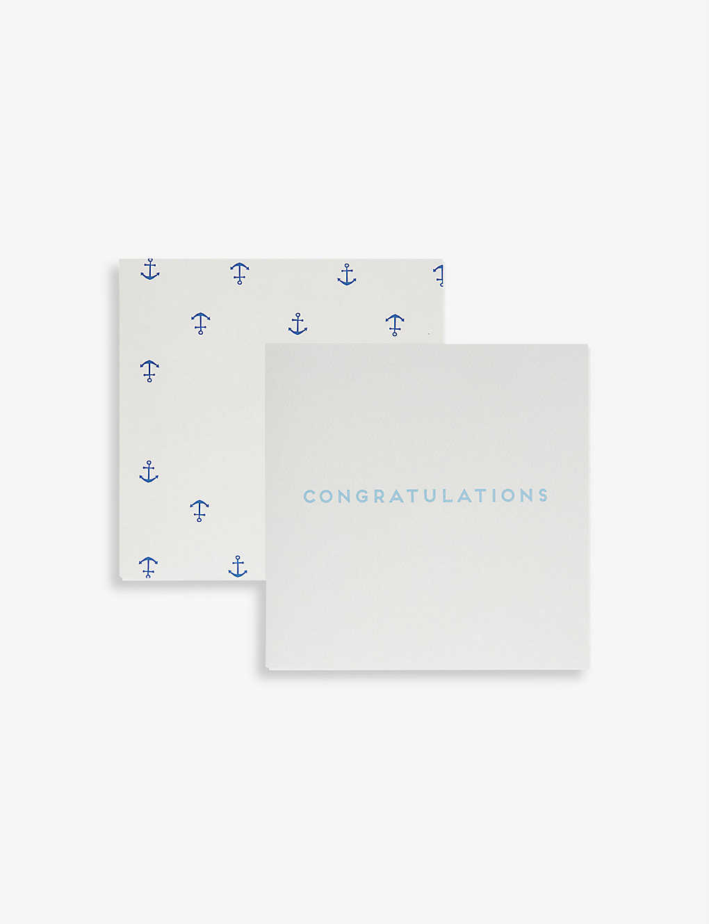 THE LITTLE WHITE COMPANY: BABY BOY BUNTING CARD