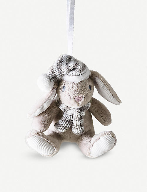 THE LITTLE WHITE COMPANY Bonnie Bunny Christmas decoration