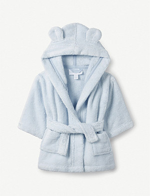 THE LITTLE WHITE COMPANY Bear ears cotton robe 0-12 months