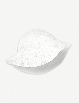 THE LITTLE WHITE COMPANY Broderie cotton hat 0-24 months