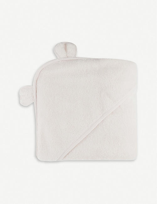 THE LITTLE WHITE COMPANY Hydrocotton hooded teddy bear towel