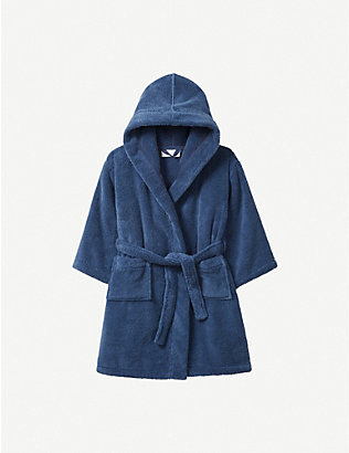THE LITTLE WHITE COMPANY: Hydrocotton dressing gown 5-12 years
