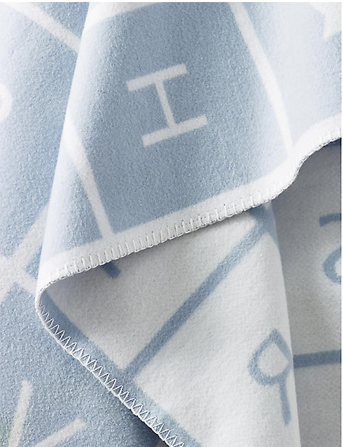 THE LITTLE WHITE COMPANY ABC cotton baby blanket