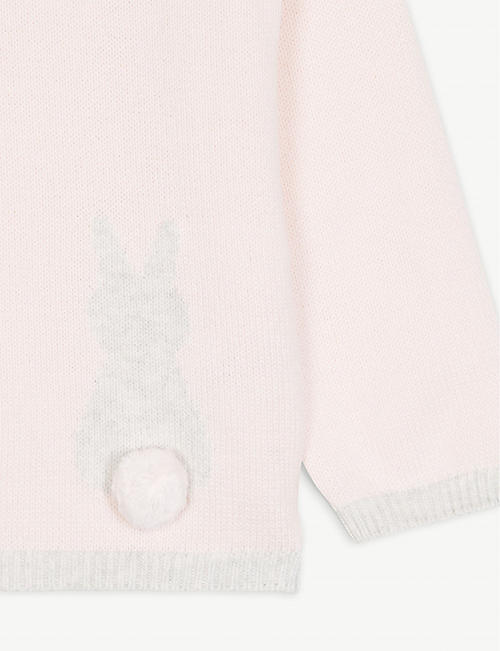 THE LITTLE WHITE COMPANY Bunny cotton hoody 1-6 years