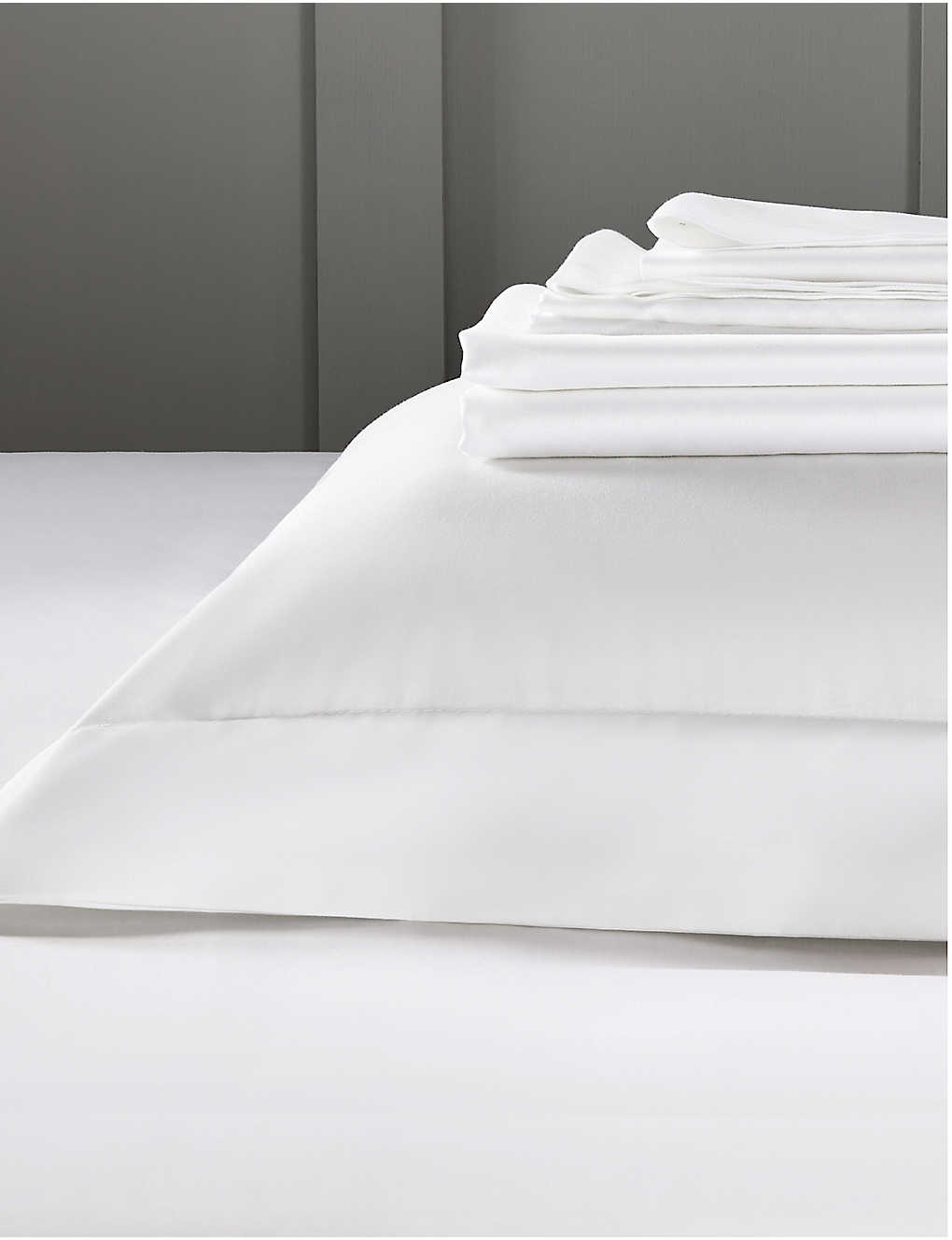 THE WHITE COMPANY: Camborne cotton single deep fitted sheet 190cm x 90cm