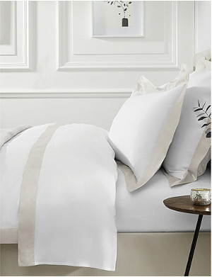 THE WHITE COMPANY Camborne double cotton-sateen duvet cover 200x200cm