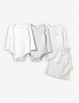 THE LITTLE WHITE COMPANY Bodysuit gift set of 3