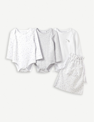 THE LITTLE WHITE COMPANY Bodysuit gift pack 0-6 months