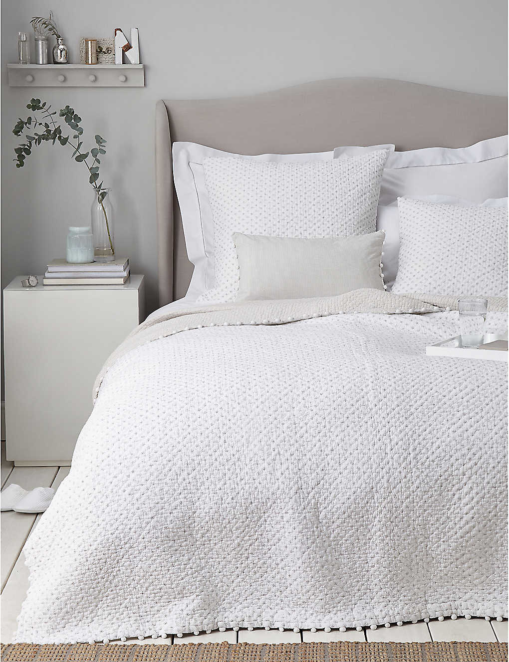 THE WHITE COMPANY: Brittany single cotton voile quilt