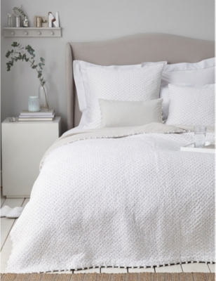 THE WHITE COMPANY Brittany king/superking cotton voile quilt