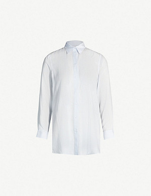 THE WHITE COMPANY Striped loose-fit woven shirt