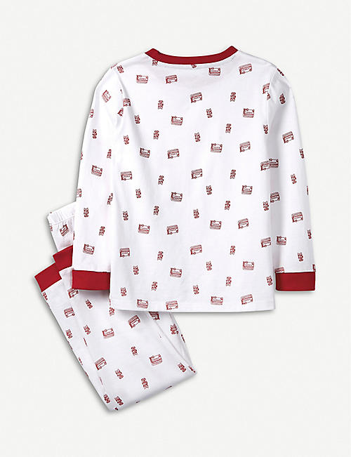THE LITTLE WHITE COMPANY Mini Bus cotton pyjamas 7-12 years