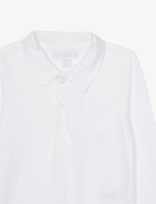 THE LITTLE WHITE COMPANY Polo cotton bodysuit 0-24 months