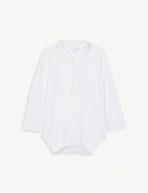 THE LITTLE WHITE COMPANY 马球棉紧身衣裤 0-24 月