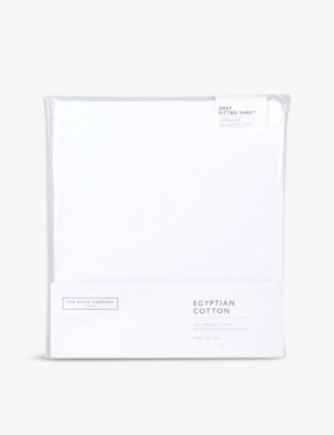 THE WHITE COMPANY Egyptian cotton sateen deep fitted super king sheet