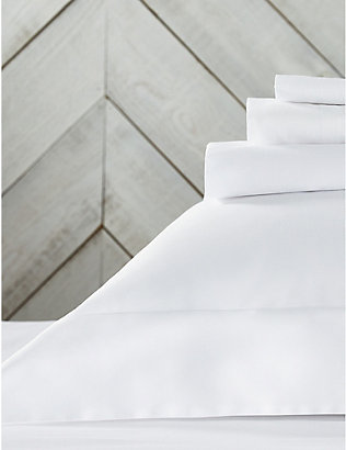 THE WHITE COMPANY: Sateen Egyptian cotton emperor duvet cover 290cm x 235cm