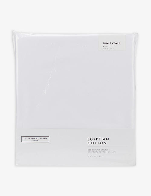 THE WHITE COMPANY: Sateen Egyptian cotton king duvet cover