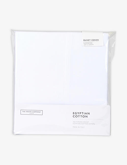 THE WHITE COMPANY: Sateen Egyptian cotton superking duvet cover