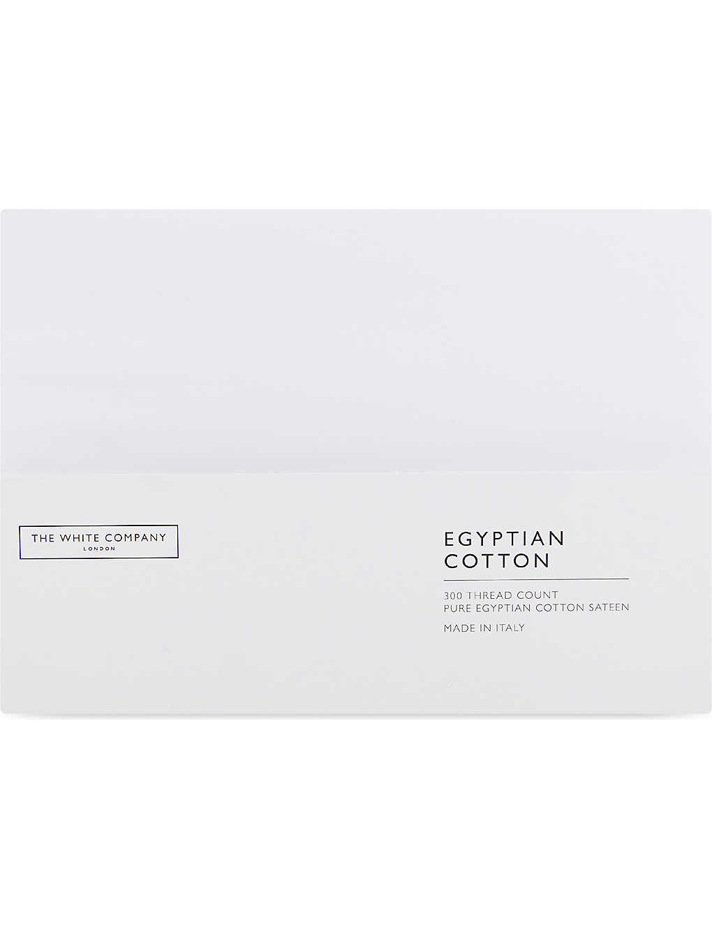 THE WHITE COMPANY: Egyptian cotton sateen standard housewife pillowcase