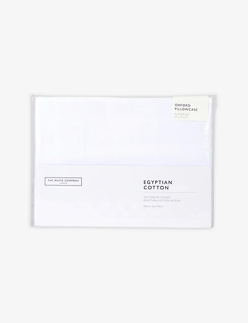 THE WHITE COMPANY: King-size sateen pillowcase 50cm x 90cm
