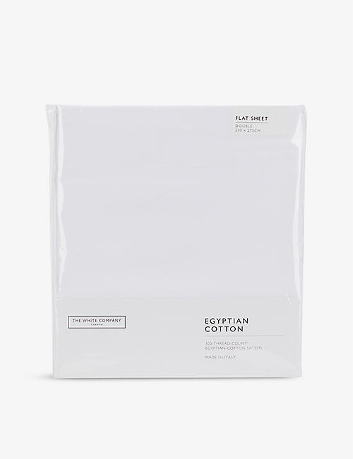 THE WHITE COMPANY: Sateen Egyptian cotton double flat sheet