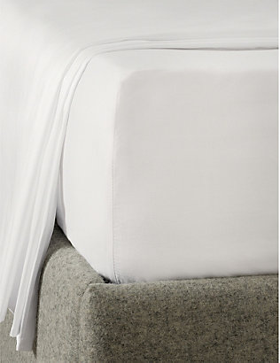 THE WHITE COMPANY: Egyptian cotton sateen emperor flat sheet