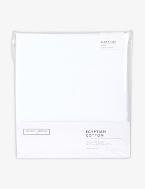 THE WHITE COMPANY Egyptian cotton sateen king flat sheet 275x275cm