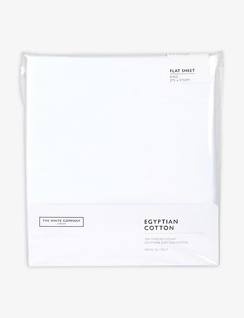 THE WHITE COMPANY: Egyptian cotton sateen king flat sheet 275x275cm