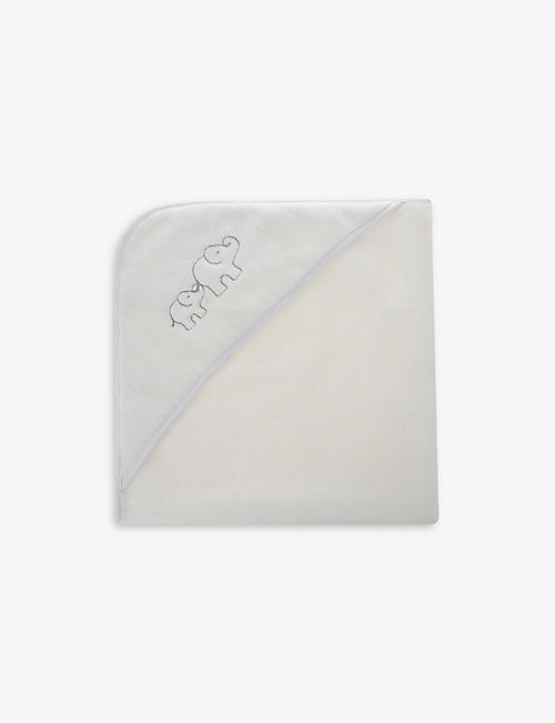 THE LITTLE WHITE COMPANY: Cotton elephant hooded towel