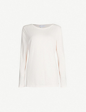 THE WHITE COMPANY Cotton button side tee
