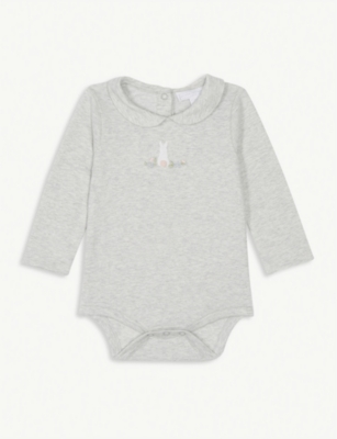 THE LITTLE WHITE COMPANY Bunny bodysuit 0-24 months