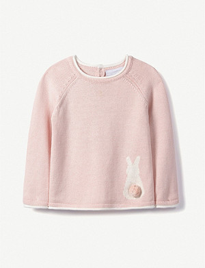 THE LITTLE WHITE COMPANY Bunny jumper 0-24 months