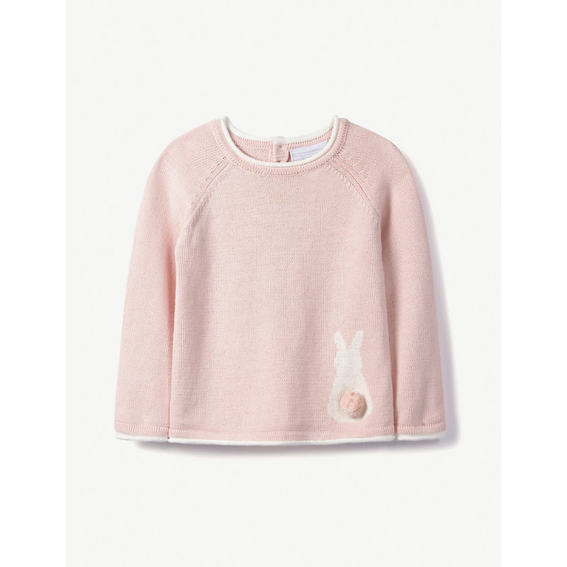 THE LITTLE WHITE COMPANY | Bunny Jumper 0-24 Months | Goxip