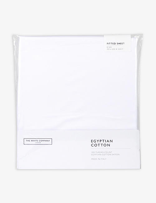 THE WHITE COMPANY: Egyptian cotton super king fitted sheet 200x180cm