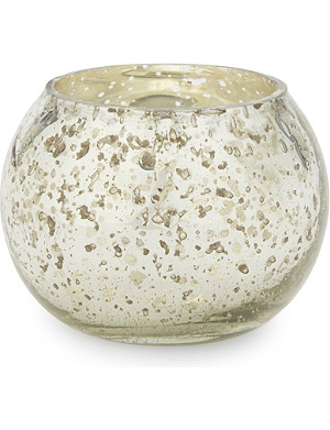 THE WHITE COMPANY Chunky bubbled small glass tealight holder