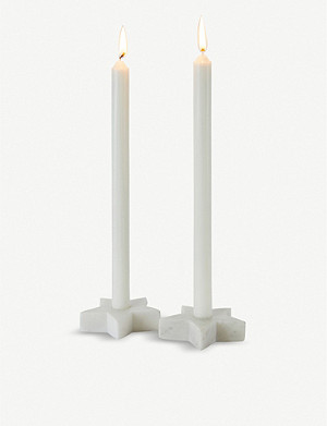THE WHITE COMPANY Star marble candle holder