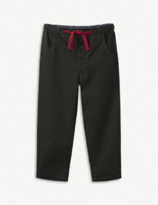 THE LITTLE WHITE COMPANY Cotton cargo trousers 1-6 years