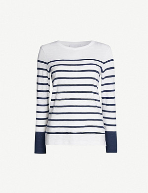 THE WHITE COMPANY Colourblock breton stripe cotton-jersey T-shirt