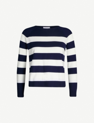 THE WHITE COMPANY Breton stripe cotton-blend jumper