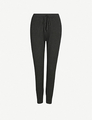 THE WHITE COMPANY Tapered cotton and cashmere-blend jogging bottoms