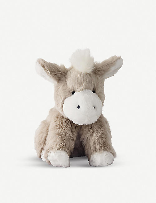 THE LITTLE WHITE COMPANY Clover faux-fur donkey toy