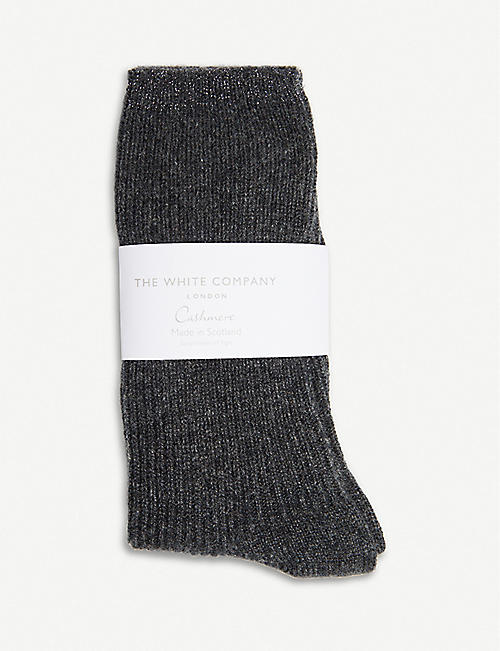 THE WHITE COMPANY Ribbed cashmere bed socks